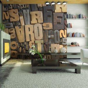 Fototapete - Holzbuchstaben