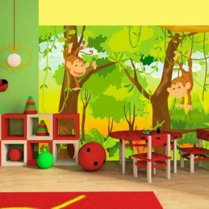 Fototapete - Dschungel - Affen