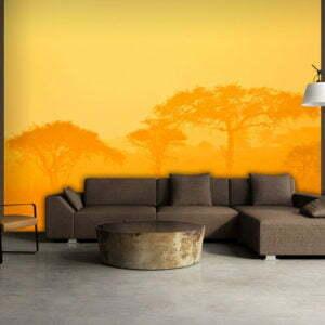 Fototapete - Orange savanna
