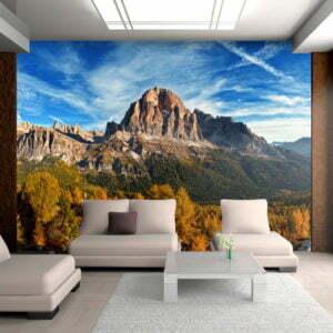 Fototapete - Panoramablick auf die Dolomiten