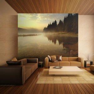 Fototapete - Wald und See