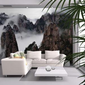 Fototapete - Ein Meer aus Wolken, Huang Shan - China