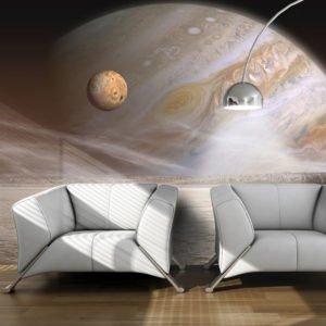 Fototapete - Kleiner und großer Planet