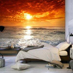 Fototapete - Märchenhafter Sonnenuntergang