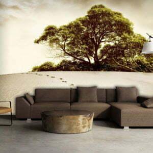 Fototapete - Baum in der Wüste