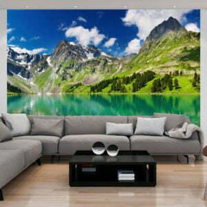 Fototapete - Kristallklarer Bergsee
