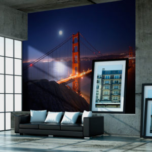 Fototapete - Golden Gate Bridge bei Nacht
