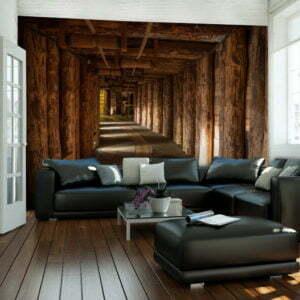 Fototapete - Wooden passage