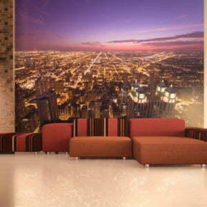 Fototapete - Amerikanisches Chicago in der Nacht