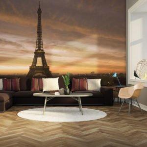 Fototapete - Der Eiffelturm im Morgentau