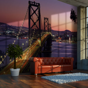 Fototapete - Charming evening in San Francisco