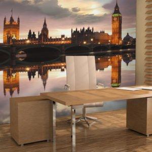 Fototapete - Big Ben am Abend: London