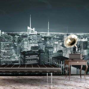 Fototapete - Das dynamische Nachtleben in New York City