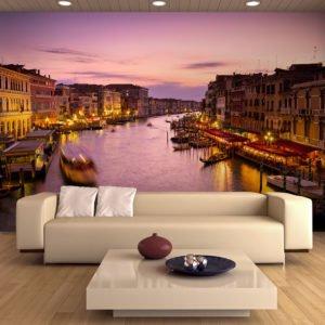 Fototapete - Venedig: Stadt der Verliebten bei Nacht