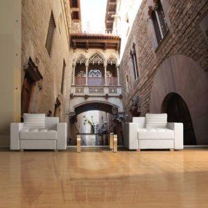 Fototapete - Barcelona Palau generalitat in gothic Barrio