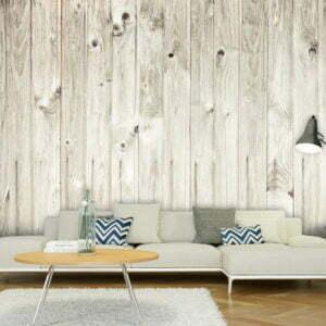 Fototapete - Einfacher Holzzaun
