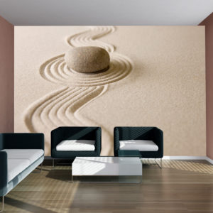Fototapete - Zen sand garden