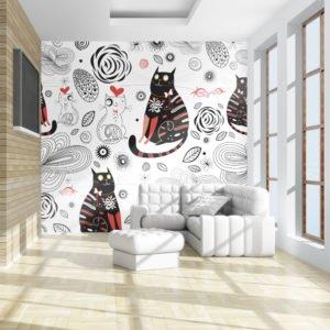 Fototapete - Cats in love