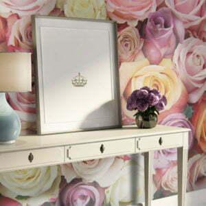 Fototapete - Pastel roses