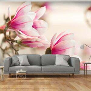Fototapete - Branch of magnolia tree