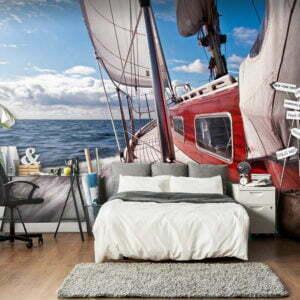 Fototapete - Ein Boot auf hoher See