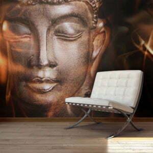 Fototapete - Buddha. Fire of meditation.
