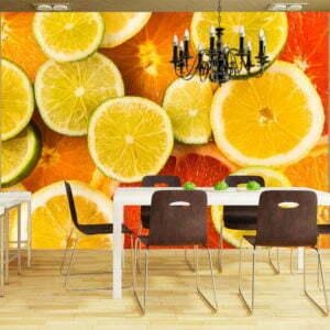 Fototapete - Citrus fruits