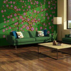 Fototapete - Abstrakt: Baum (grün)