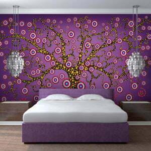 Fototapete - Abstrakt: Baum (violett)