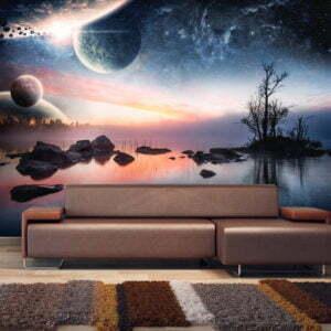 Fototapete - Cosmic landscape