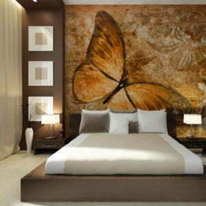 Fototapete - butterfly (sepia)