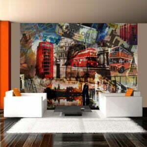 Fototapete - Londoner Collage