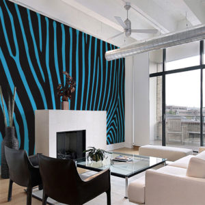 Fototapete - Zebra pattern (türkis)