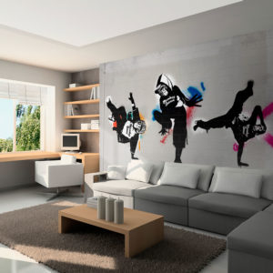 Fototapete - Monkey dance - street art