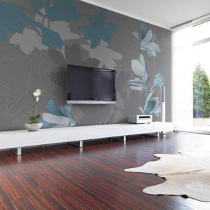 Fototapete - Blaue Magnolien