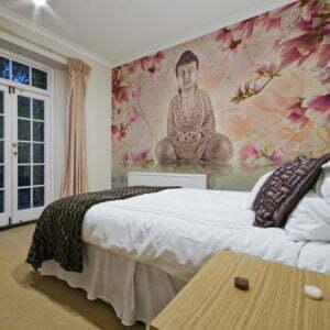 Fototapete - Buddha und Magnolia