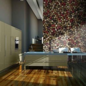 Fototapete - Mosaik aus buntem Pfeffer