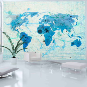 Fototapete - Cruising and sailing -  The World map