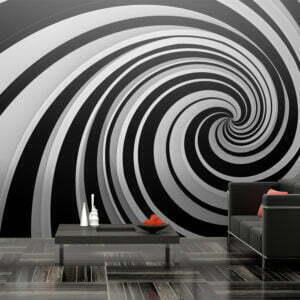 XXL Tapete - Black and white swirl