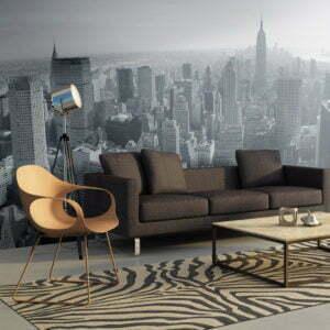 XXL Tapete - Schwarz-weißes Panorama von New York City