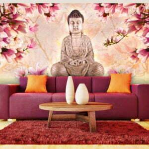 XXL Tapete - Buddha und Magnolia