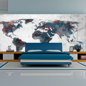 XXL Tapete - World map on the wall