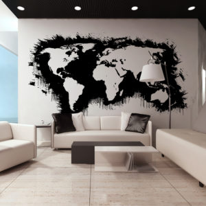 XXL Tapete - White continents, black oceans...