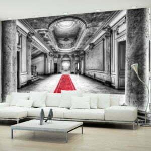 Fototapete -  Das Geheimnis von Marmor - schwarz und weiß