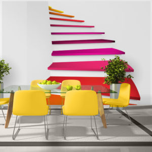Fototapete - Colorful stairs