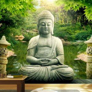 Fototapete - Buddhas Garten