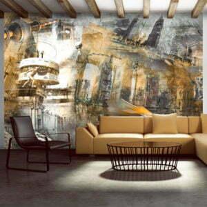 Fototapete - Berlin - Collage (orangene)