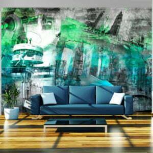 Fototapete - Berlin - Collage (grün)
