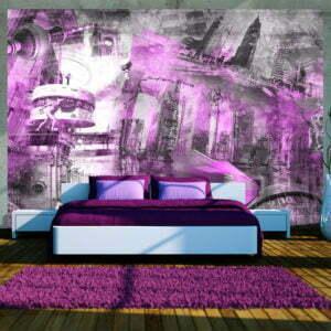 Fototapete - Berlin - Collage (violett)