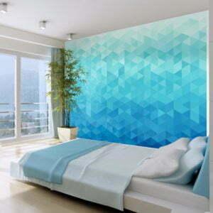 Fototapete - Azurblaues Pixel